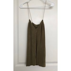 Zara B/W Collection Olive Green Camisole